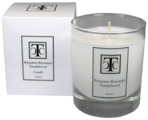 Bergamot Rosemary Sandalwood Scented Candle 30 hour